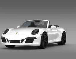 porsche 911 carrera gts cabriolet 991 2015 3d model