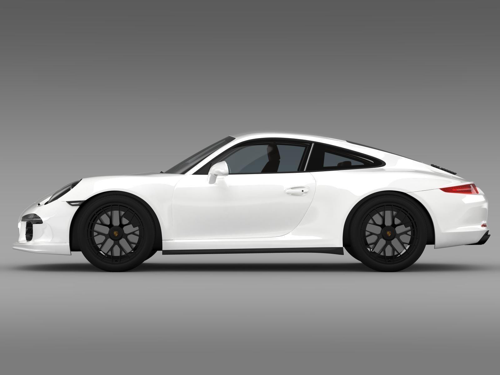 Porsche 911 Carrera GTS Coupe 991 2015 3D Model MAX OBJ 3DS FBX ...