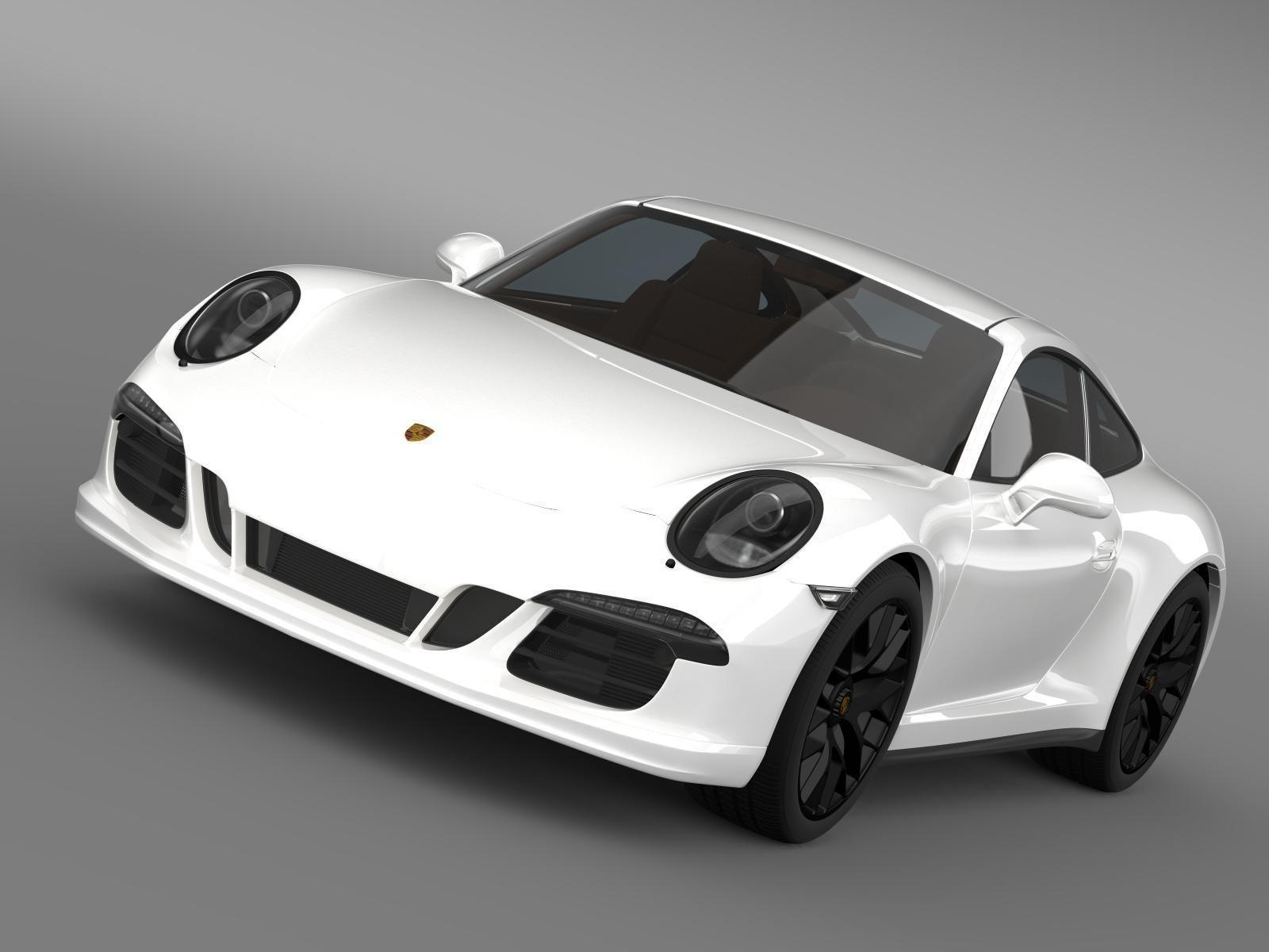 porsche 911 carrera gts coupe 991 2015 3d model max obj 3ds fbx c4d lwo lw - 911 Porsche 2015 White