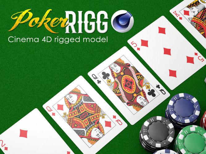 poker rigg 3d model low-poly rigged obj mtl 3ds fbx c4d 1