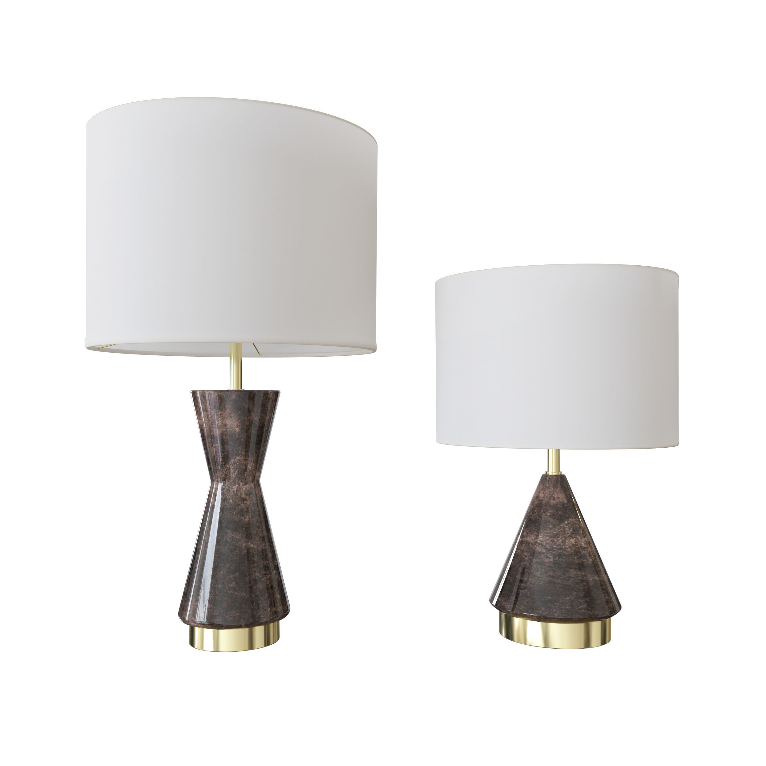 3d West Elm Metalized Glass Table Lamp Grey Cgtrader