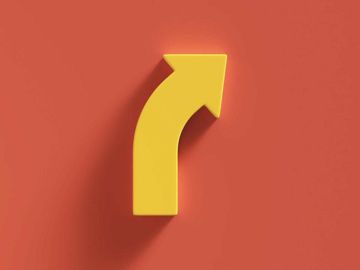 Arrow Bold Curve Right