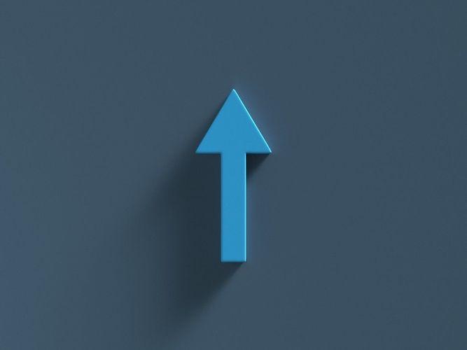arrow standard up 3d model obj mtl fbx ma mb 1