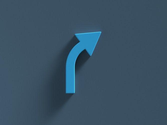 Arrow Standard Curve Right