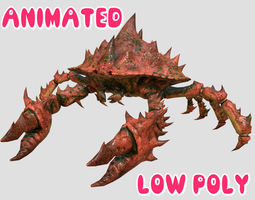 animated CRAB 3D MODEL - ANIMATED