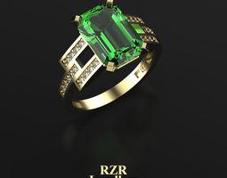 3D print model Emerald Cuted Stone