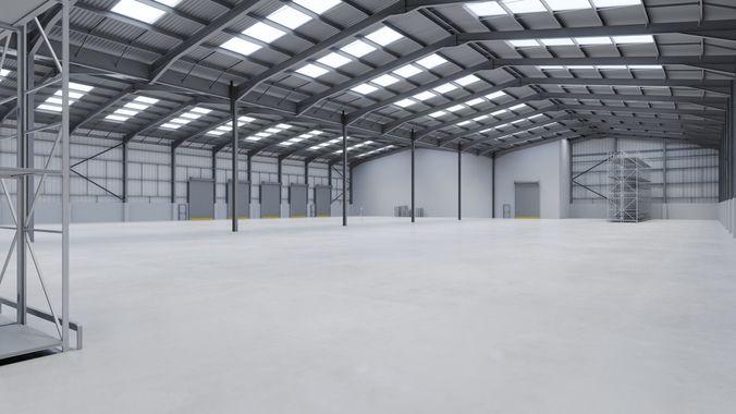 Ordinaire Warehouse Interior 12 3d Model Low Poly Obj Mtl 3ds Fbx Blend Tga 1 ...