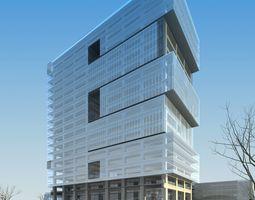 modern commercial building design 3d