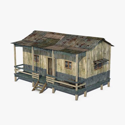 wooden house 3d model max obj mtl 3ds fbx c4d dae 1