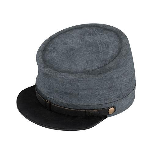 american civil war confederate cavalry hat kepi 3d model max obj mtl fbx blend mat 1