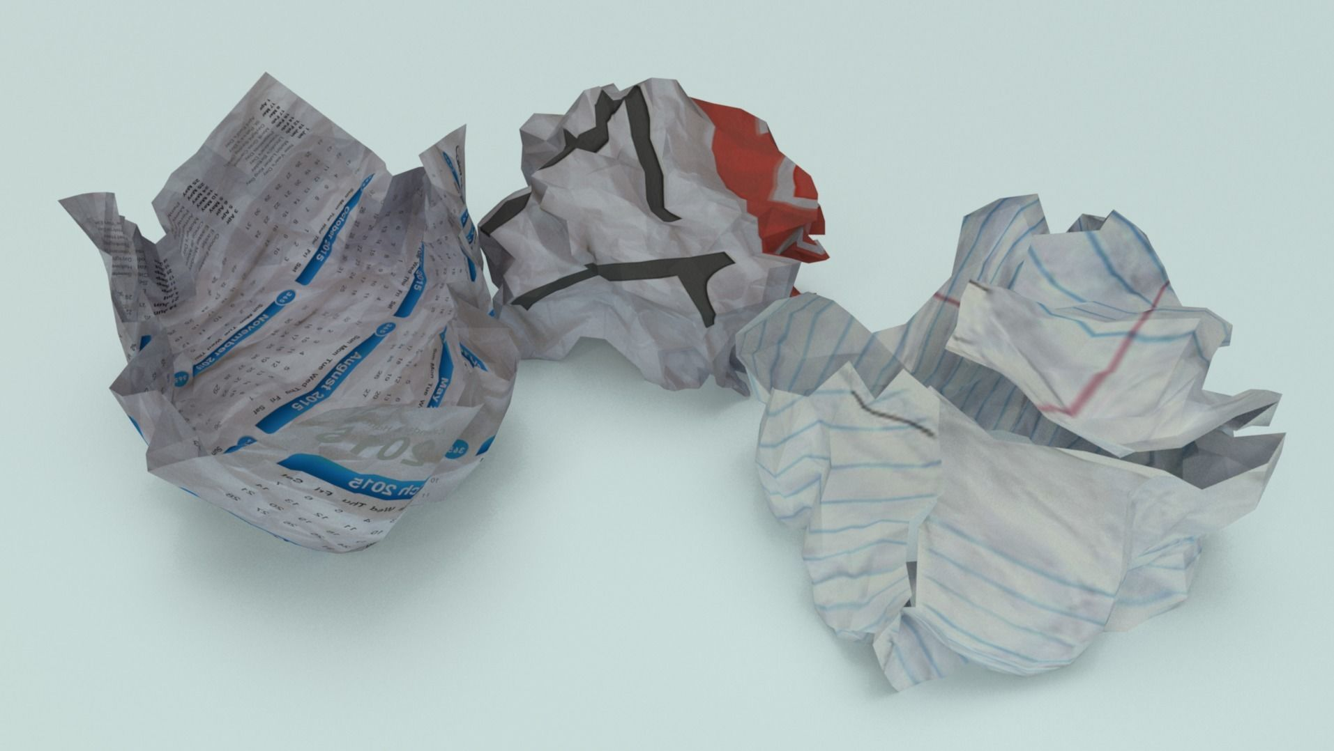 crumpled paper ball - Game Ready - VR AR