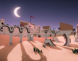 Low Poly Desert Ruins 3D model