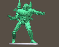 MICRONAUTS FORCE COMMANDER Mego toy soldier 3D print model