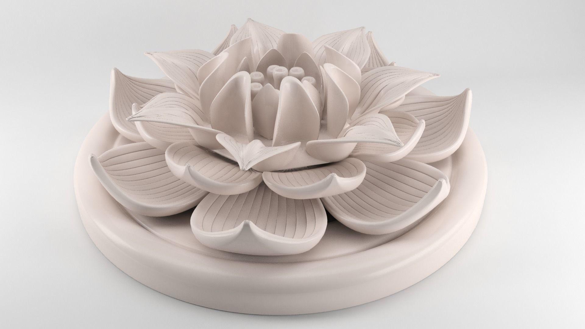 Lotus flower figurine 3d print model cgtrader lotus flower figurine 3d model stl 1 izmirmasajfo