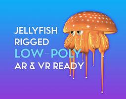 rigged 3D Cartoon Jellyfish