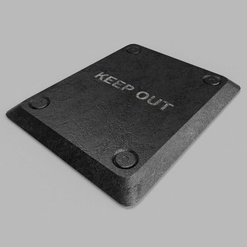 keep out table 3d model max obj 3ds fbx mtl 1