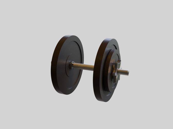 adjustable dumbbell - 16 kg - gym equipment 3d model low-poly obj mtl fbx blend dae x3d 1