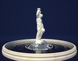 3D Standing Woman Fountain