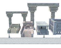 3D model ancient greek roman temples buildings