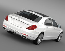 mercedes maybach s600 x222 2015 3d model