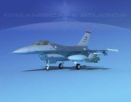 3D model Gen Dyn F-16A Falcon V17 USAF