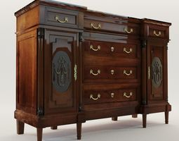 cabinet 3D model Historicism commode - Germany 1880