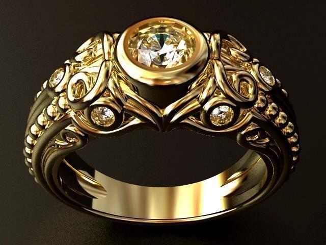 Gothic Diamond RING O