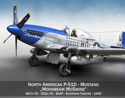 North American P-51D Mustang - Moonbeam McSwine 3D