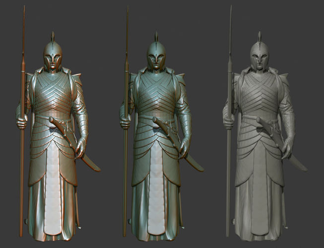elf warrior - lord of the rings 3d printable 3d model obj mtl 3ds stl 1