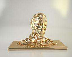 Man head sculpted 3D print model