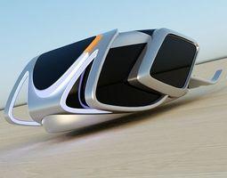HoverBug futuristic vehicle 3D