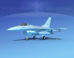Gen Dyn F-16A Falcon Poland 3D model