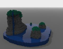 Cluster of islands from ireland 3D