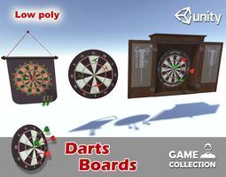 Darts Boards 3D asset