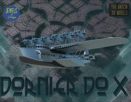 Dornier DO-X Flying boat 3D model