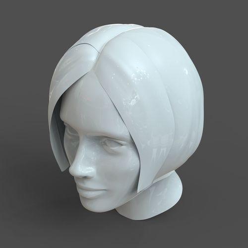 cad-friendly casual woman head model f1p1d0v1head 3d model 3d model obj mtl fbx c4d stl 3dm dwg 1