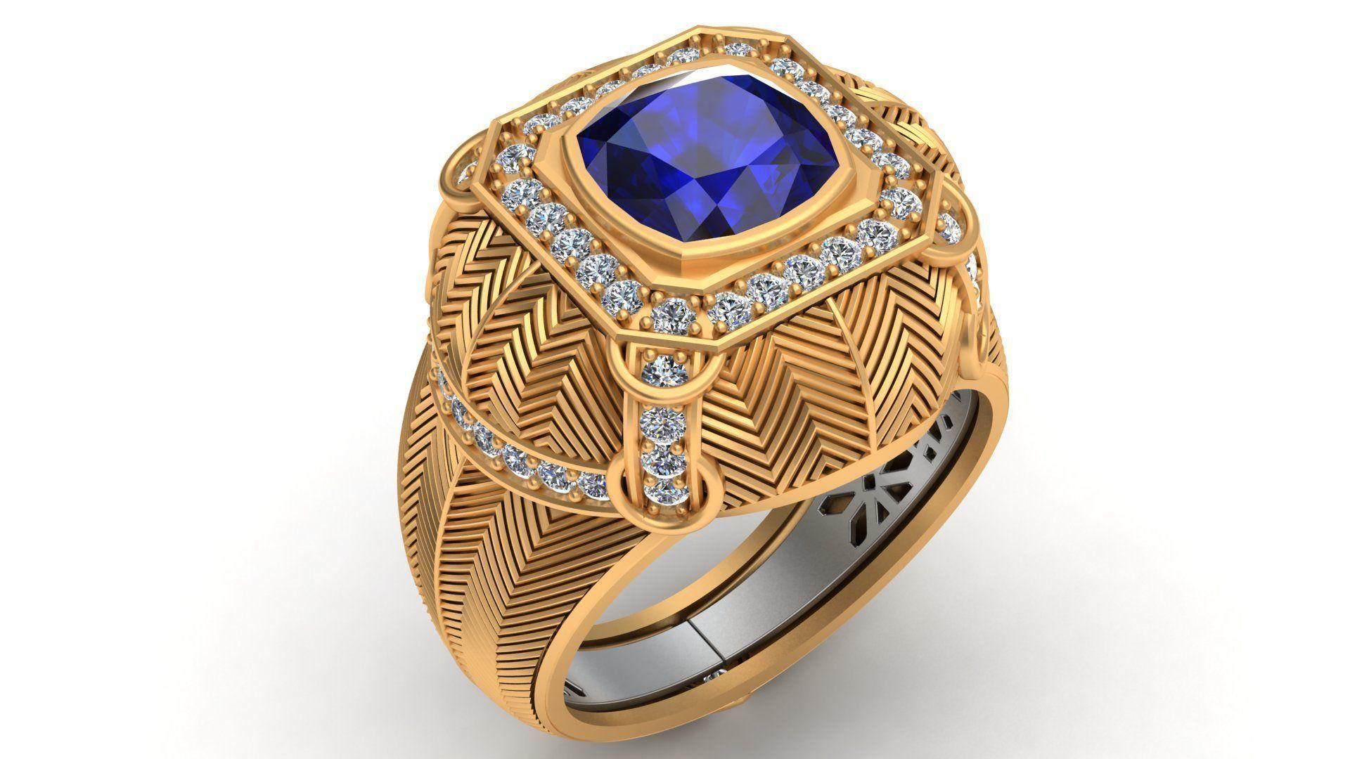 Mousson Atelier Topaz Diamond Gold Ring