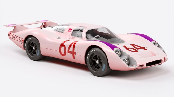 porsche 908 3d model low-poly max obj mtl fbx 1