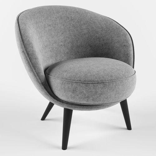 felt chair 3d model max obj mtl fbx 1