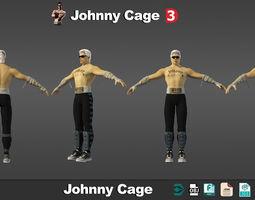 3D model Johnny Cage Mortal Kombat low poly