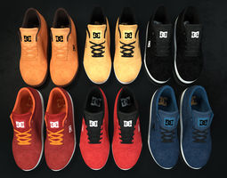 3D asset Realisitc DC Shoes Crisis - Collection of 6