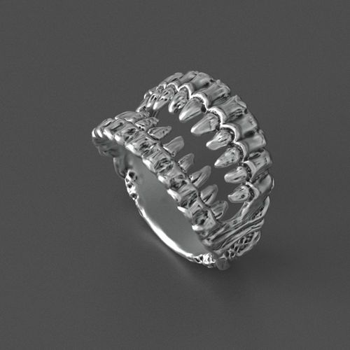 jaws ring 3d model obj mtl 3ds stl 3dm 1