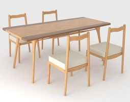 3D model fatty Dining Set