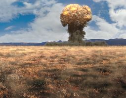 Nuke explosion using FumeFX in 3ds max animated