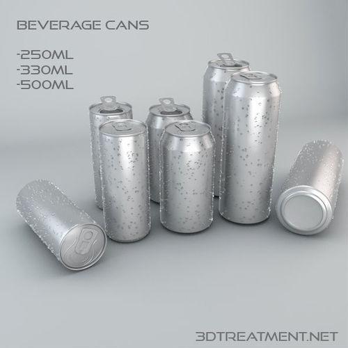 beverage cans in 3 sizes 3d model obj mtl 3ds c4d 1