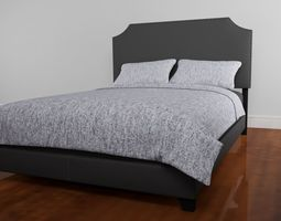 bed 3D Stone Queen Upholstered Bed