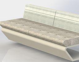 simple bench 3D model