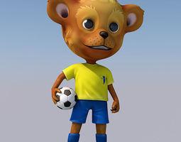 3D asset rigged bear mascotte
