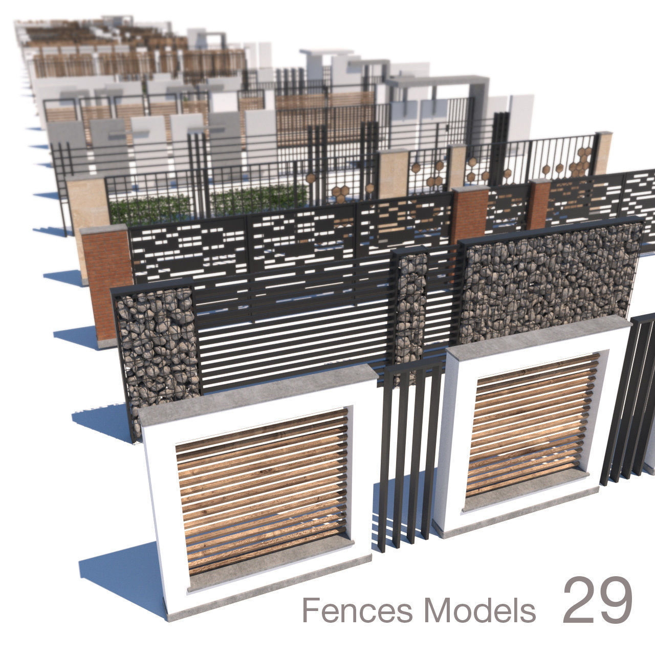 modern fence collection
