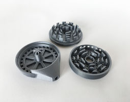 3D print model 039a - Self-Cleaning Herb Grinder -